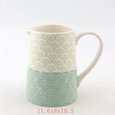 Green Ceramic Pitcher